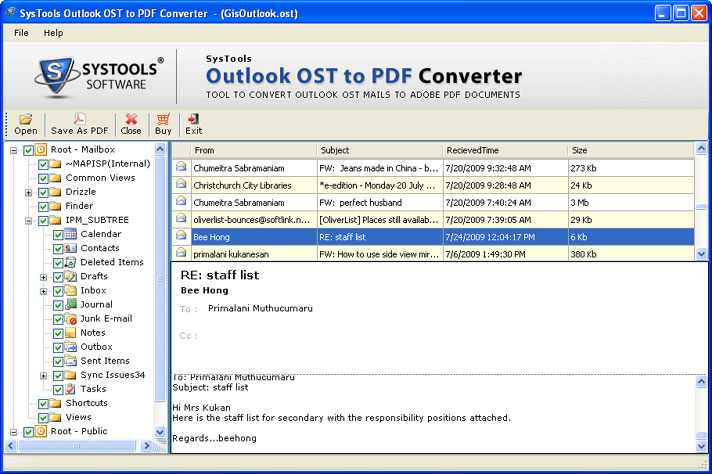 Get New OST Emails to PDF Conversion Utility
